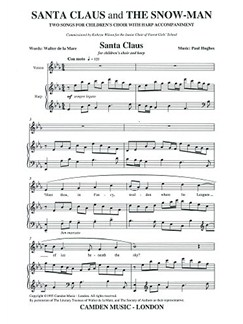Paul Hughes: Santa Claus And The Snowman Books | Children's Choir, Harp