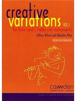 Jeffery Wilson/Malcolm Miles: Creative Variations Volume 1 (Flute/Treble Clef Instruments) Books and CDs | Flute, Treble Clef Instruments, Piano Accompaniment