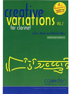 Creative Variations For Clarinet Volume 2 Books and CDs | Clarinet, Piano Accompaniment