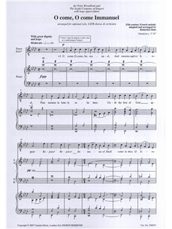 O Come, O Come Immanuel (SATB) Books | Tenor, SATB, Piano Accompaniment