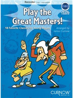 Play The Great Masters! (Recorder) Books and CDs | Recorder