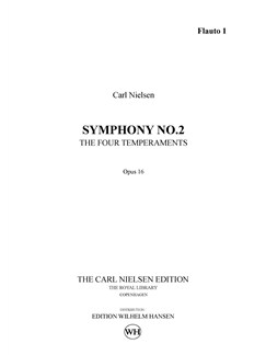 Carl Nielsen: Symphony No.2 'The Four Temperaments' Op.16 (Parts) Books | Orchestra