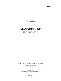 Carl Nielsen: Prelude from Act 2 of Maskarade / Masquerade (Parts) Books | Orchestra