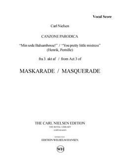 Carl Nielsen: Maskarade / Masquerade - Canzone Parodica (Vocal Score) Books | Soprano, Baritone Voice, Orchestra