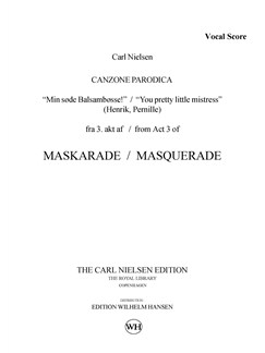 Carl Nielsen: Maskarade / Masquerade - Canzone Parodica (Vocal Score) Bog | Sopran, Baryton Stemme, Orkester