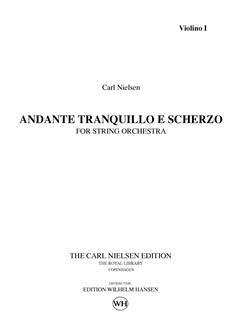 Carl Nielsen: Andante Tranquillo E Scherzo (Parts) Bog | Strygeorkester