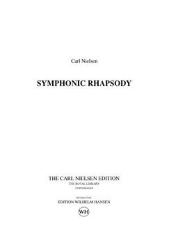 Carl Nielsen: Symphonic Rhapsody (Score) Bog | Orkester