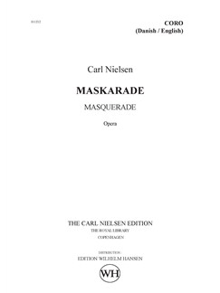 Carl Nielsen: Maskarade / Masquerade (Danish/English Choral Score) Books | SATB