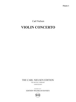 Carl Nielsen: Concerto For Violin And Orchestra Op.33 (Parts) Books | Violin, Orchestra