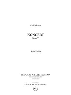 Carl Nielsen: Concerto For Violin And Orchestra Op.33 (Solo Part) Books | Violin