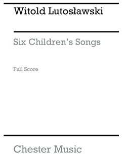 Witold Lutoslawski: Six Children's Songs Books | High Voice, Wind Instruments, String Instruments, Harp