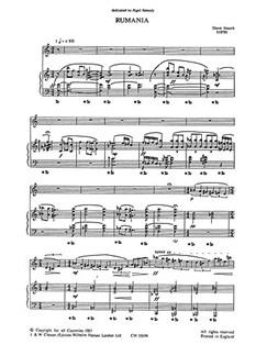 Dave Heath:  Rumania (Sop Sax And Piano) Bog | Sopransaxofon, Klaverakkompagnement