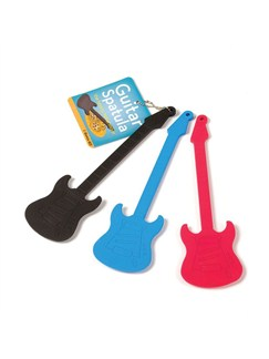 Electric Guitar Baking Spatula - Black  | Electric Guitar