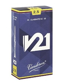 Vandoren: Reeds V21 Bb Clarinet Strength 2.5 (Box Of 10)  |