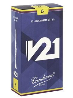 Vandoren: Clarinet Reeds Bb 5 V21 - Box Of 10  | Clarinet