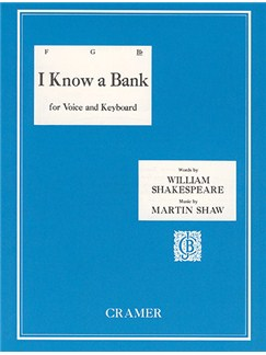 Martin Shaw: I Know A Bank - Key B Flat Books | Voice
