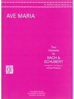 Bach/Schubert:  Ave Maria    Organ     St.M.34 Books | Organ