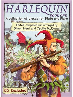 Harlequin Book 1 (Flute) Books and CDs | Flute, Piano Accompaniment