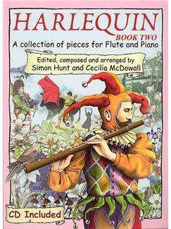 Harlequin Book 2 (Flute) Books and CDs | Flute, Piano Accompaniment