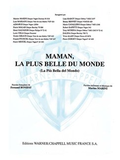 Luis Mariano: Maman, La Plus Belle Du Monde (La Più Bella Del Mondo) Livre | Piano et Chant