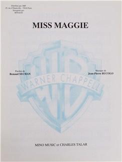 Renaud Sechan/Jean-Pierre Bucolo: Miss Maggie Livre | Voix, Accompagnement Piano