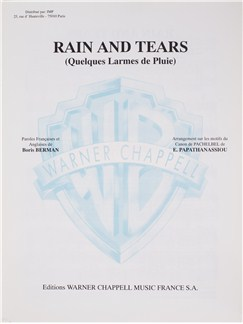 Aphrodites Child: Rain And Tears Livre | Voice, Piano Accompaniment