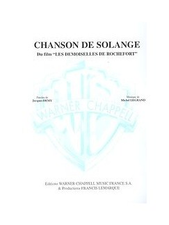 Michel Legrand: Chanson De Solange (Du Film Les Demoiselles De Rochefort) Books | Piano & Vocal