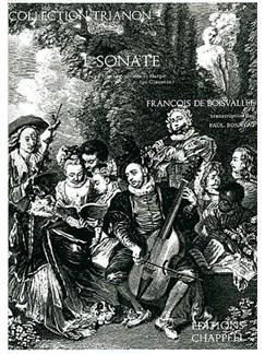 François De Boisvallée: 1ère Sonate, pour Flûte Traversière et Harpe ou Clavecin Bog | Fløjte, Harpe