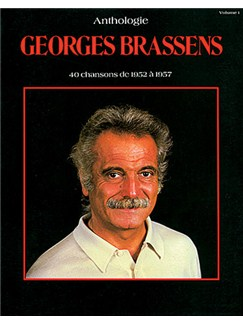 Georges Brassens: Anthologie, Volume 1 Livre | Piano, Chant et Guitare