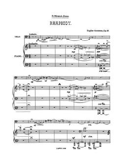 Eugène Goossens: Rhapsodie, Op.13 Books | Cello, Piano Accompaniment