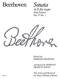 Beethoven: Sonata In E Flat Major Op.27 No.1 Books | Piano