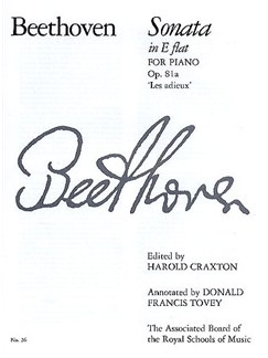 Ludwig Van Beethoven: Sonata In E Flat Op.81a 'Les Adieux' Books | Piano