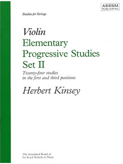 Herbert Kinsey: Elementary Progressive Studies For Violin Set II Books | Violin