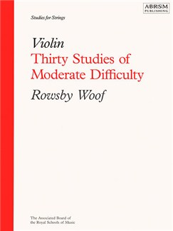 Rowsby Woof: Thirty Studies Of Moderate Difficulty - Violin Books | Violin