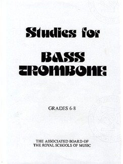 Studies For Bass Trombone: Grades 6-8 Books | Bass Trombone