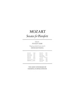 W.A. Mozart: Sonata In D Books | Piano