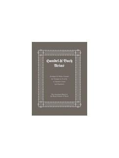 Handel And Bach Arias Books | Trumpet, Piano Accompaniment