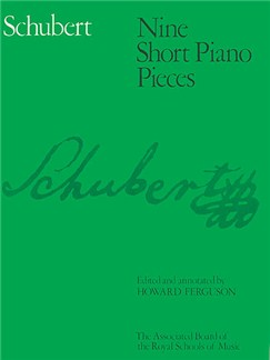 Franz Schubert: Nine Short Piano Pieces Books | Piano