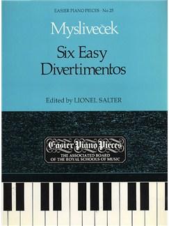 Joseph Myslivecek: Six Easy Divertimentos Books | Piano