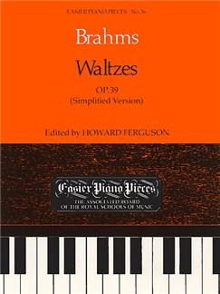 Johannes Brahms: Waltzes Op.39 (Simplified Version) Books | Piano