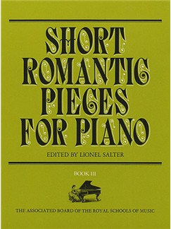 Short Romantic Pieces For Piano Book 3 Books | Piano