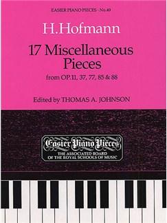 Heinrich Hofmann: 17 Miscellaneous Pieces Books | Piano