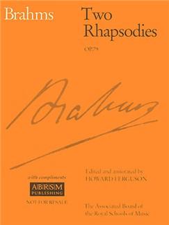 Johannes Brahms: Two Rhapsodies Op. 79 Books | Piano