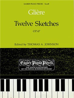 Reinhold Gliere: Twelve Sketches Op.47 Books | Piano