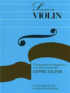 Lionel Salter: Starters For Violin Books | Violin, Piano Accompaniment