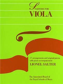 ABRSM Starters For Viola Books | Viola, Piano Accompaniment