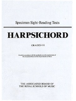 Specimen Sight-Reading Tests for Harpsichord, Grades 4-8 Books | Harpsichord