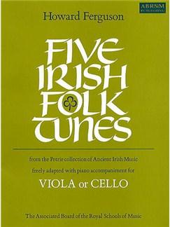Five Irish Folk Tunes Books | Viola, Piano Accompaniment