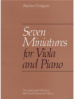 Stephen Dodgson: Seven Miniatures For Viola Books | Viola, Piano Accompaniment