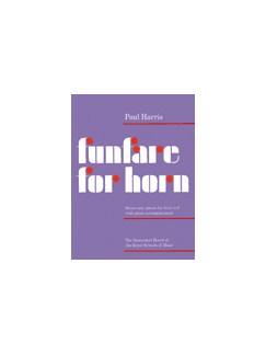Paul Harris: Funfare For Horn Books | Horn, Piano Accompaniment